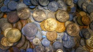 Piles og coins